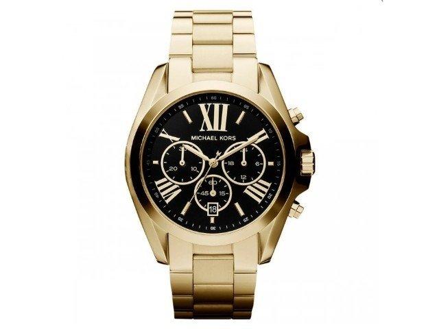 1ae0a41ad5824 Relógio Michael Kors Mk5739 Dourado Fundo Preto