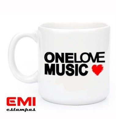Canecas One Love Music 1607