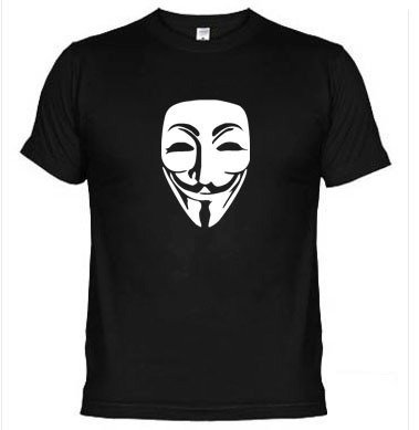 Camisetas V De Vingança Protesto Anonymous 312 na internet