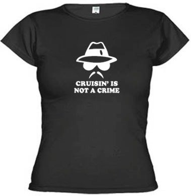 Imagem do Camisetas Engraçadas Cruisin' Is Not A Crime 1537