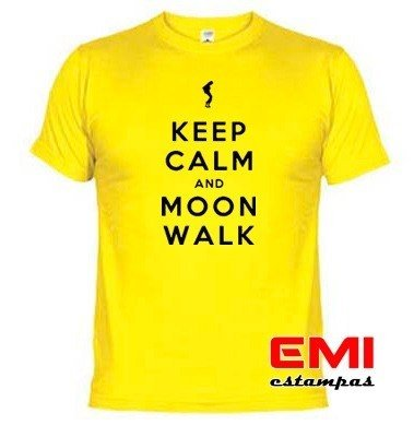 Camisetas Engraçadas Keep Calm And Moon Walk Michael Jackson - loja online