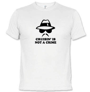 Camisetas Engraçadas Cruisin' Is Not A Crime 1537