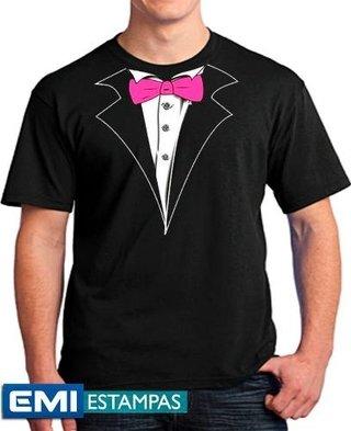 Camisetas Smolking Terno Gravata
