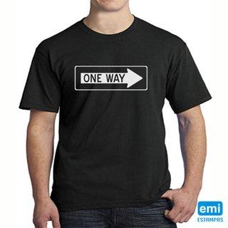 Camiseta one way mão única
