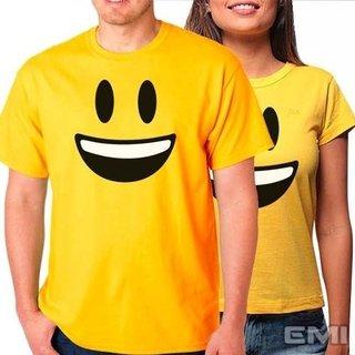 Camiseta Emoji Feliz Sorridente (cada)