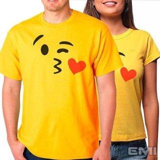 Camiseta Emoji Beijos Beijinho (cada)