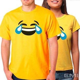 Camiseta Emoji Chorando De Rir (cada)