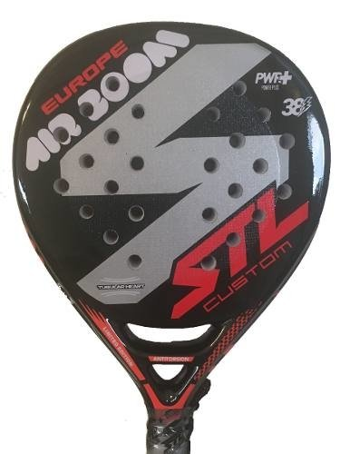 Paleta Padel Steel Custom Air Boom + Funda + Grip + Protec