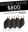 Pack 4 tapabocas negros