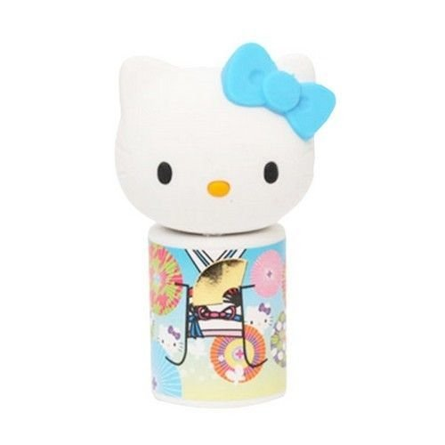 Borracha Hello Kitty Kokeshi Azul