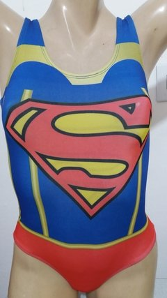 Body em lycra suplex estampa Super Girl