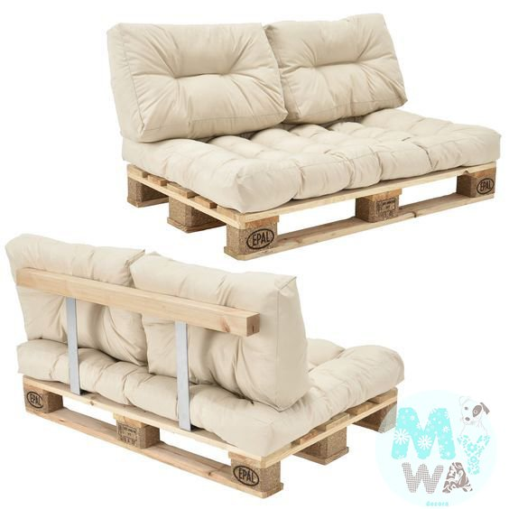 sof de pallets 2 lugares comprar em my way decora. Black Bedroom Furniture Sets. Home Design Ideas