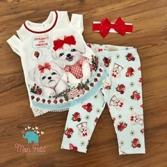 CONJUNTO STRAWBERRY DOGS PETIT CHERIE - 80014