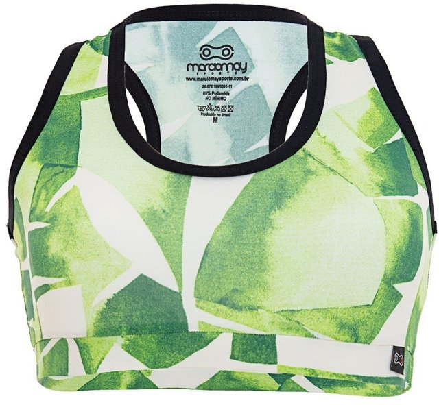 Top Feminino Márcio May Funny Green Leaves