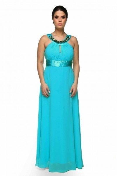 comprar-vestido-longo-azul-tiffany-decote-canoa-drapeado- ... 24a8199cf7