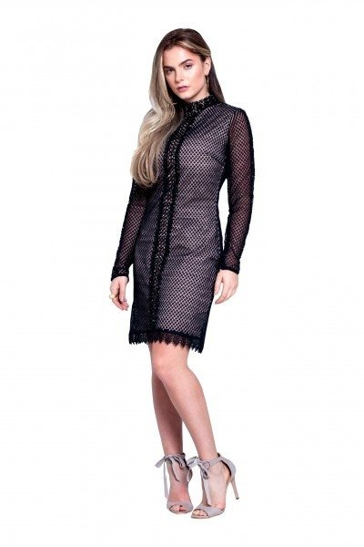 61719e1f1 ... comprar-vestido-curto-preto-renda-manga-comprida-usado- ...
