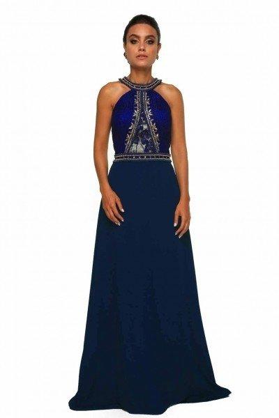 Vestido longo azul usado