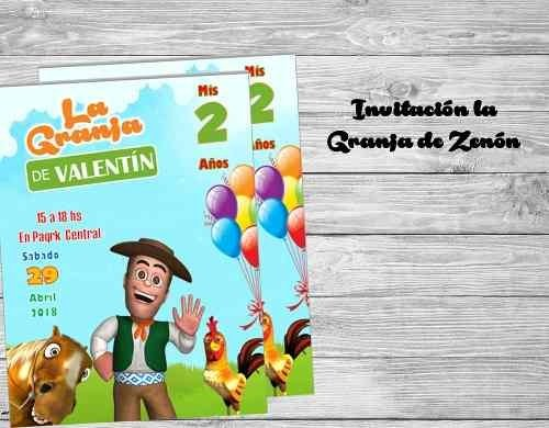 Invitación La Granja De Zenon Comprar en KitFiestas
