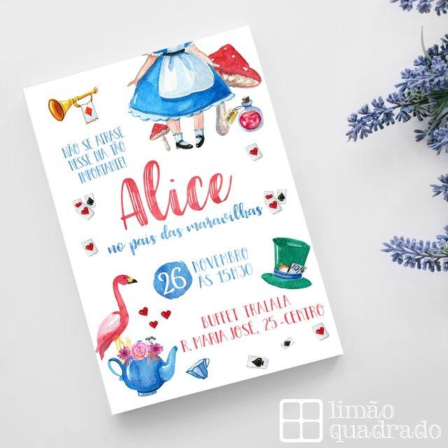 Convite Digital Alice No País Das Maravilhas