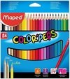 LAPICES DE COLORES MAPED COLOR PEPS X24 UNIDADES