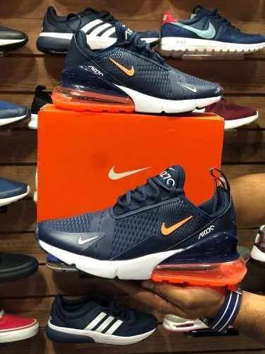 cheap for discount bc5e0 4e20d netherlands tenis zapatillas nike air max naranja 270 azul naranja max  hombre env g 00e928 05a56