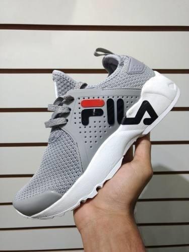 Tenis Zapatillas Fila Mind Zero Gris Blanca Hombre Env Gr ea9f06a840b