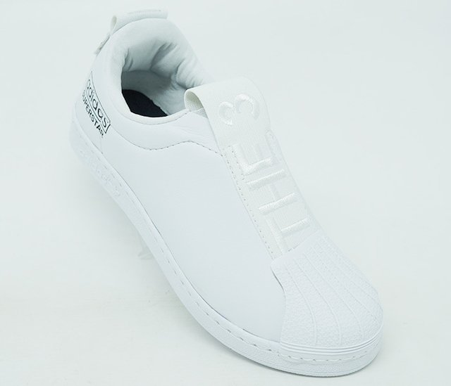 90828f5bdee Tênis Adidas Superstar New Slip Branco - CalvestemiX