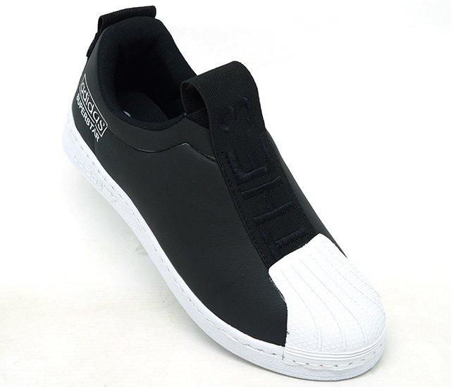 0ff840f5132 Tênis Adidas Superstar New Slip Preto e Branco