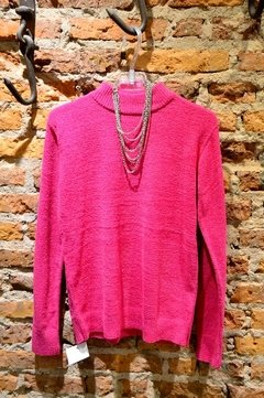 Sweater chenille media polera