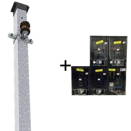 ec887782ecd Kit Caixa Luz P  4 Relogios + Poste Padrão Enel 25mm