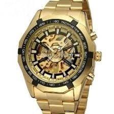 ffaac33ffdd Relógio Forsining Skeleton Aço