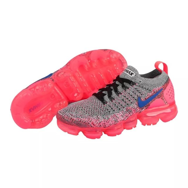 d3bb7933930ca TÊNIS Nike AIR VAPORMAX FLYKNIT 2 CINZA E FEMININO ROSA FEMININO E 12d884