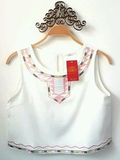 Cropped indiano branco