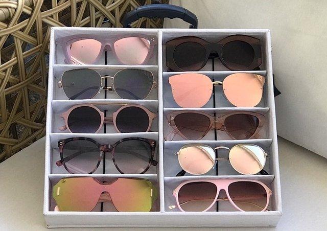 98c78ec583987 Kit Revenda Exclusivo Maleta Positano para 10 Óculos