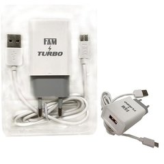 Kit Carregador Original Cabo Micro Usb V8 + Turbo Fastcharge