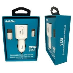 Kit Carregador Fast Charge + Cabo Usb V8 Veicular 2usb Turbo - loja online