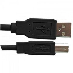 Cabo USB 2.0 A Macho + B Macho 1,8 Metros Preto PLUS CABLE