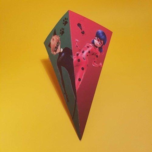 Cono Papas Ladybug Envases Personalizdo Cotillon Cumpleanos