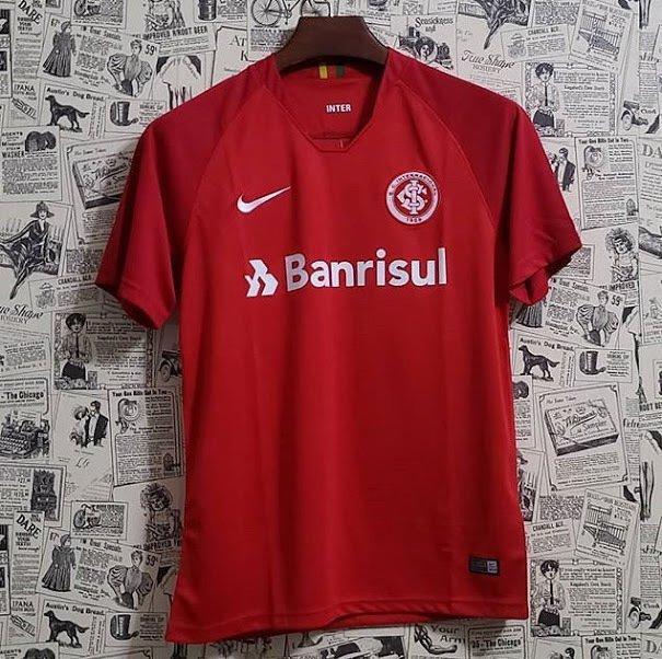 Camisa Internacional I 18 19 Torcedor Masculina - Vermelho e Branco ceb959b639f40