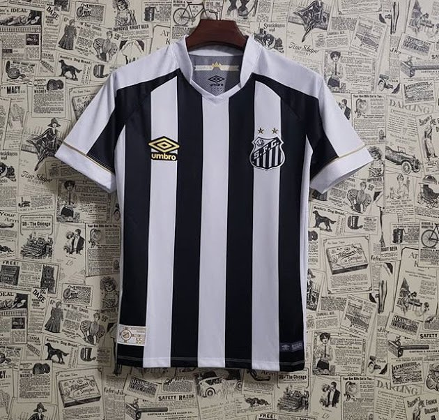 Camisa Santos II 2018 s n° Torcedor Umbro Masculina - Branco e Preto ebfbc451e3847