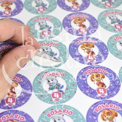 Sticker circular Skye y Everest x40