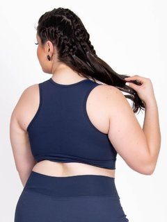 Top Plus Size Emana Strappy Marinho Ebony na internet