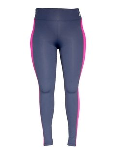 Calça Legging Plus Size Emana Side Strip Marinho Ebony e Debut