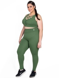 Calça Legging Plus Size Emana Basic Agreste