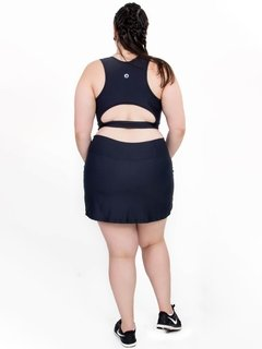 Short Saia Plus Size Light Emana Reflect - Moda Fitness Plus Size