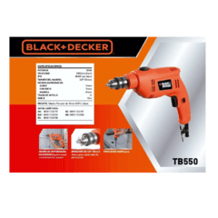 "Taladro percutor Black Decker  TB550 de 3/8""(10 mm) - Industrialagos"