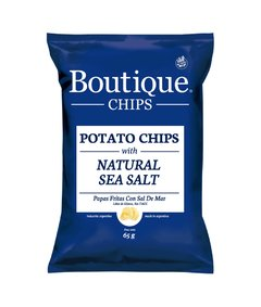 Boutique Chips Natural Sea Salt 65g