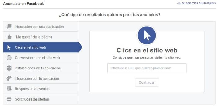 Tercer tipo de anuncio de Facebook