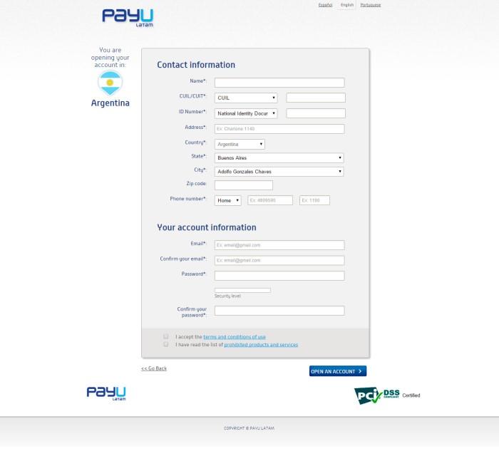 Cómo abrir una cuenta en Payu Latam