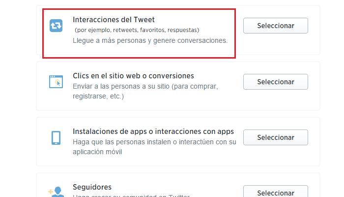 Crear anuncios en Twitter